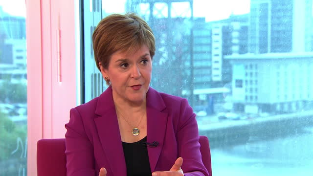 """nicola sturgeon saying scotland being """"subsidised"""" by england is an argument for change, not staying the same - stationary stock videos & royalty-free footage"""