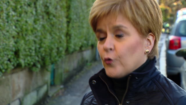nicola sturgeon saying scotland needs to encourage more people to come and live here - encouragement stock videos & royalty-free footage