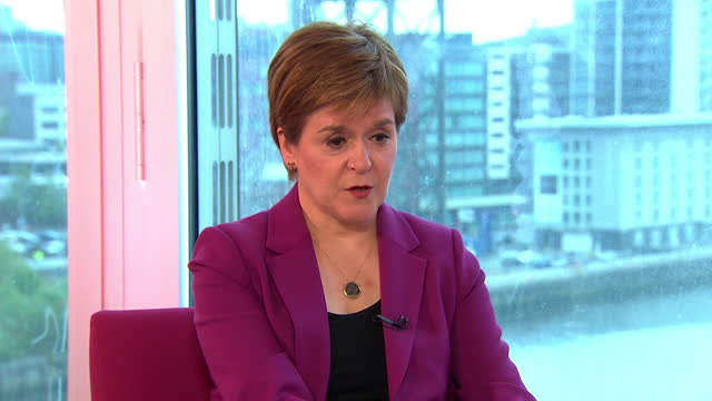 """nicola sturgeon saying she doesn't believe her relationship with alex salmond will """"go back to the way things were"""" - former stock videos & royalty-free footage"""