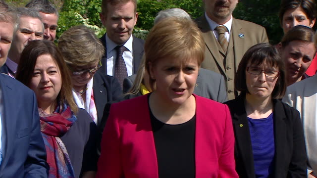 Nicola Sturgeon saying she doesn't believe the SNP will be 'in the territory' of forming a coalition but that she doesn't want to see a Conservative...