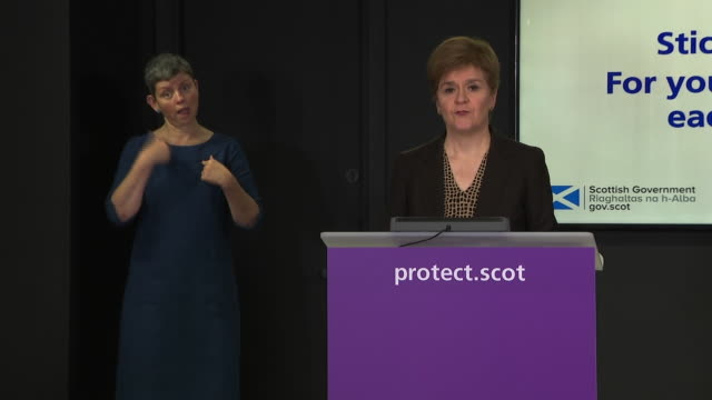 nicola sturgeon saying she has asked snp mp margaret ferrier to resign after she travelled despite knowing she had coronavirus - journey stock videos & royalty-free footage