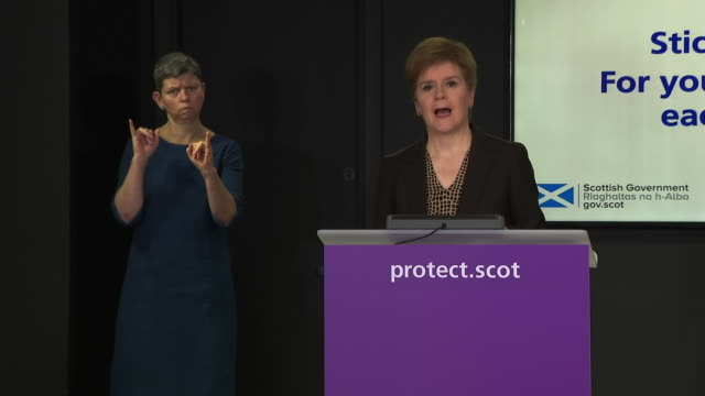 "nicola sturgeon saying snp mp margaret ferrier travelling despite knowing she had coronavirus was ""reckless, dangerous and completely indefensible"" - journey stock videos & royalty-free footage"