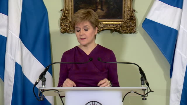 """nicola sturgeon saying the 2019 general election """"put beyond any reasonable doubt our mandate to offer scotland an independence referendum"""" - scottish culture stock videos & royalty-free footage"""