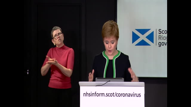 nicola sturgeon saying the four uk nations may move at different speeds if the data says it is necessary to prevent the spread of coronavirus - patriotism stock videos & royalty-free footage