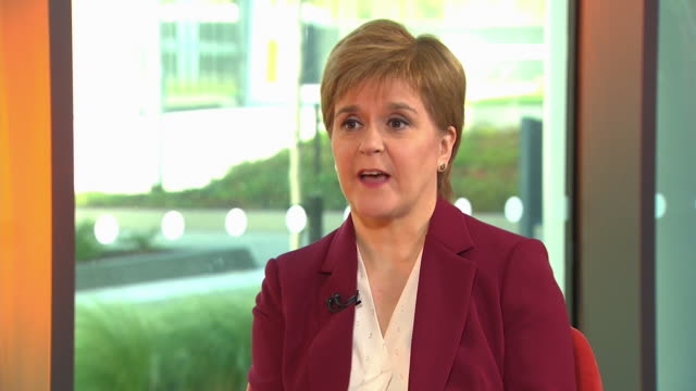 nicola sturgeon saying the snp would vote against boris johnson's new brexit deal in parliament - rejection stock videos & royalty-free footage