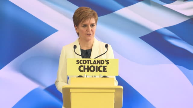 """nicola sturgeon saying the uk that scotland voted to remain in in 2014 """"ceases to exist"""" after 'brexit day' - scottish culture stock videos & royalty-free footage"""