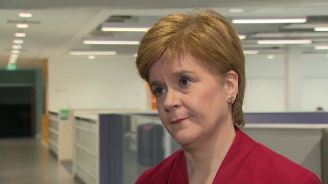 nicola sturgeon school visit and interview; scotland: west lothian: west calder high school: int nicola sturgeon msp interview sot. q: what is... - big tech stock videos & royalty-free footage