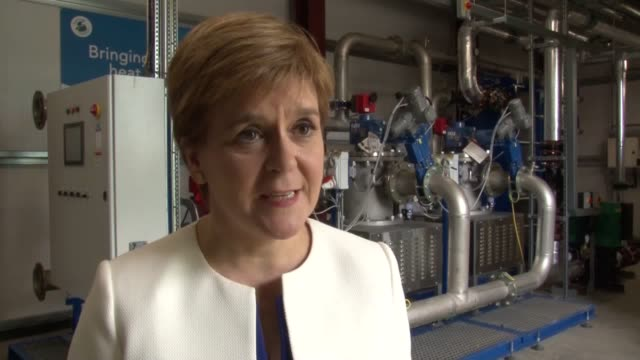 nicola sturgeon speaks about comments from labour's shadow chancellor john mcdonnell that he would not block a second independence referendum, which... - nicola sturgeon stock videos & royalty-free footage