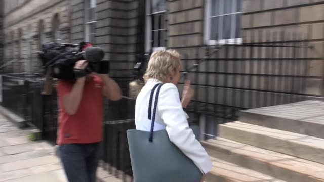 Nicola Sturgeon unveils her new expanded cabinet outside Bute House in Edinburgh Shona Robison handed in her resignation as health secretary ahead of...