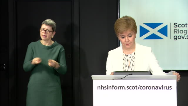 nicola sturgeon urging people to stay at home over easter weekend during the coronavirus crisis - religious celebration stock videos & royalty-free footage