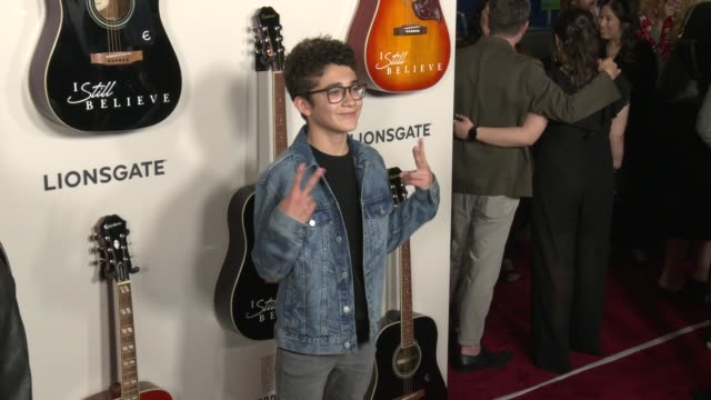 nicolas bechtel at i still believe special screening at arclight hollywood on march 07 2020 in hollywood california - gif stock videos & royalty-free footage
