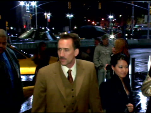 nicolas cage and alice cage at the new york premiere of 'the weather man' at frederick p. rose hall in new york, new york on october 24, 2005. - nicolas cage stock videos & royalty-free footage
