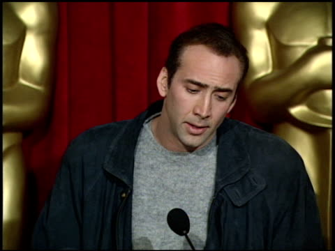 nicolas cage at the 1996 academy awards luncheon at the beverly hilton in beverly hills california on march 12 1996 - nicolas cage stock videos & royalty-free footage