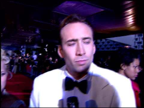 nicolas cage at the 1996 screen actors guild sag awards at santa monica civic auditorium in santa monica california on february 25 1996 - nicolas cage stock videos & royalty-free footage