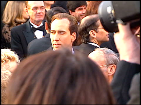 nicolas cage at the 1997 academy awards arrivals at the shrine auditorium in los angeles california on march 24 1997 - nicolas cage stock videos & royalty-free footage