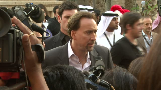 nicolas cage at the 2008 dubai international dubai film festival charles roven award at dubai - nicolas cage stock videos & royalty-free footage