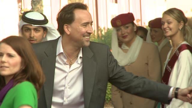 Nicolas Cage at the 2008 Dubai International Dubai Film Festival Charles Roven Award at Dubai