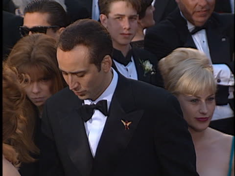 nicolas cage at the academy awards at shrine auditorium. - shrine auditorium stock videos & royalty-free footage