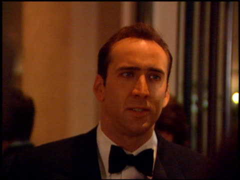 Nicolas Cage at the AFI Honors Honoring Clint Eastwood entrances at the Beverly Hilton in Beverly Hills California on March 1 1996