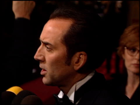 nicolas cage at the american cinematheque honors nicolas cage at the beverly hilton in beverly hills california on october 28 2001 - nicolas cage stock videos & royalty-free footage