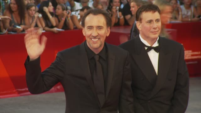nicolas cage at the bad lieutenant: port of call new orleans: venice film festival 2009 at venice . - nicolas cage stock videos & royalty-free footage