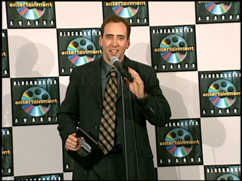nicolas cage at the blockbuster awards at hollywood pantages theater in hollywood california on march 11 1997 - nicolas cage stock videos & royalty-free footage