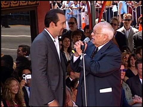 Nicolas Cage at the Dedication of Nicolas Cage's footprints at Grauman's Chinese Theatre in Hollywood California on August 14 2001