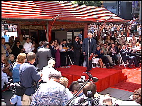 nicolas cage at the dedication of nicolas cage's footprints at grauman's chinese theatre in hollywood california on august 14 2001 - mann theaters stock-videos und b-roll-filmmaterial