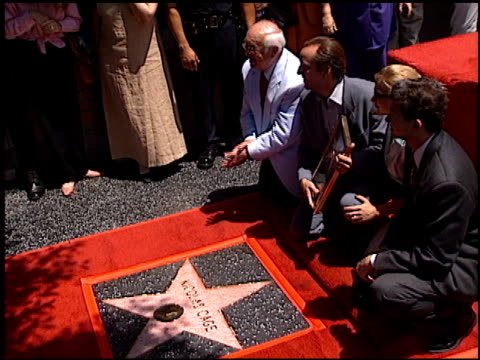 nicolas cage at the dedication of nicolas cage's walk of fame star at hollywood boulevard in hollywood, california on july 31, 1998. - nicolas cage stock videos & royalty-free footage