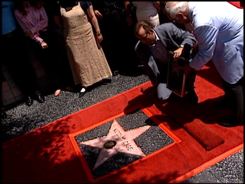 nicolas cage at the dedication of nicolas cage's walk of fame star at hollywood boulevard in hollywood california on july 31 1998 - nicolas cage stock videos & royalty-free footage