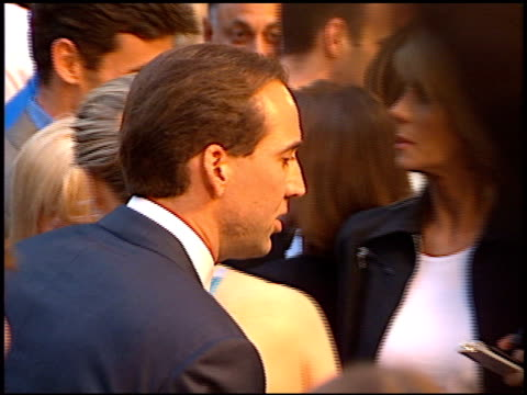 nicolas cage at the 'face/off' premiere at grauman's chinese theatre in hollywood california on june 19 1997 - nicolas cage stock videos & royalty-free footage