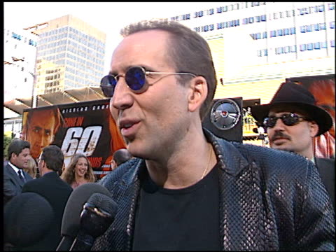 Nicolas Cage at the 'Gone in 60 Seconds' Premiere on June 6 2000