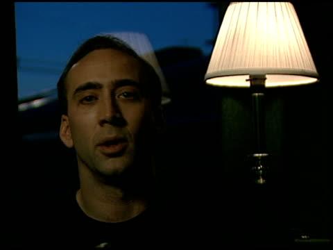 Nicolas Cage at the Nicolas Cage Interview on June 1 1997