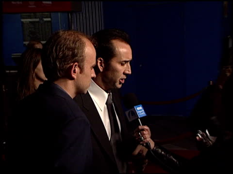 Nicolas Cage at the Premiere of 'The Life of David Gale' at Universal Citywalk Cinema in Universal City California on February 18 2003