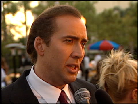 nicolas cage at the 'snake eyes' premiere at paramount theater in hollywood california on july 30 1998 - nicolas cage stock videos & royalty-free footage