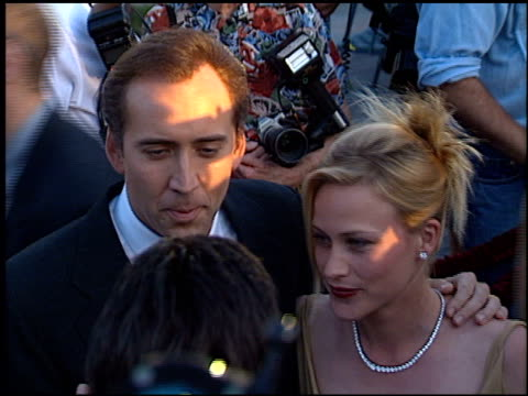 Nicolas Cage at the 'Snake Eyes' Premiere at Paramount Theater in Hollywood California on July 30 1998