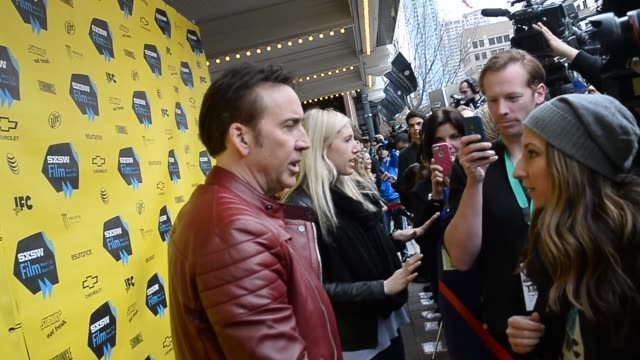 """nicolas cage attends the premiere of """"joe"""" at 2014 sxsw music, film + interactive festival t the paramount theater on march 09, 2014 in austin, texas. - nicolas cage stock videos & royalty-free footage"""