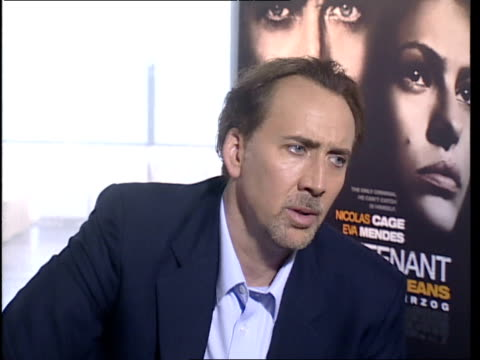 Nicolas Cage on how he plays his character and how he does think about the audience and what they can learn from his portrayal His character is...