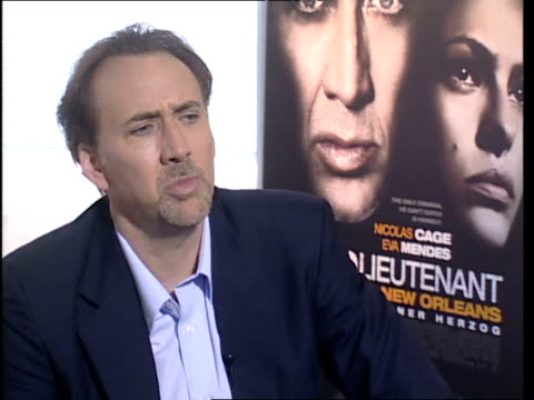 Nicolas Cage on how his performance whilst sober in the Bad Lieutenant was different to playing a character in the days of Leaving Las Vegas when...
