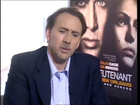 nicolas cage on the effect new orleans has on him personally and how the city played an important part for him whilst starring in the film. the city... - nicolas cage stock videos & royalty-free footage