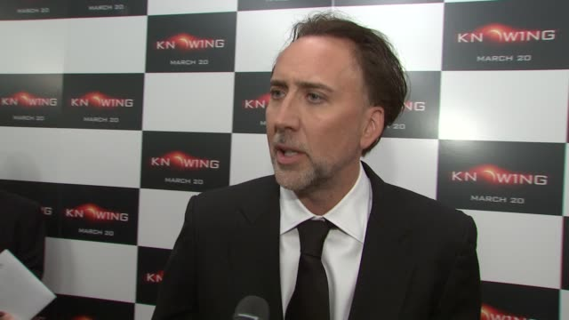 nicolas cage on whether he would want the power to knowing the future in his real life and what it was like to work with rose and alex. at the... - nicolas cage stock videos & royalty-free footage