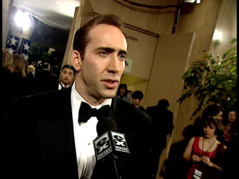 nicolas cage talks about clint eastwood - nicolas cage stock videos & royalty-free footage