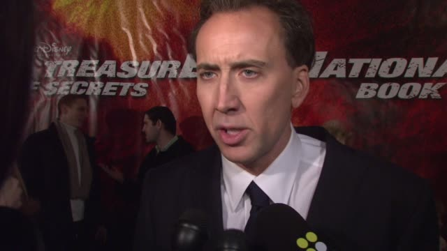 nicolas cage talks about how excited he is to be out tonight, talks about his character, the plot of the movie, he plays a character that's kind of a... - nicolas cage stock videos & royalty-free footage
