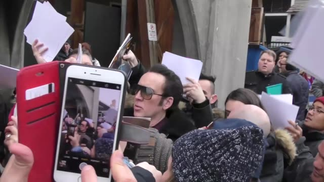 nicolas cage walking on main street at the sundance film festival in park city utah at celebrity sightings in park city on january 19 2018 in park... - nicolas cage stock videos & royalty-free footage