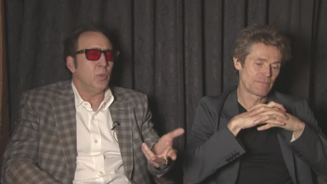 INTERVIEW Nicolas Cage Willem Dafoe on how they beccame involed in the project at 'Dog Eat Dog' Interview at Majestic Barierre on May 21 2016 in...