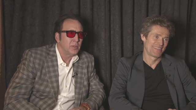 INTERVIEW Nicolas Cage Willem Dafoe on how they chose their roles how the film industry has changed at 'Dog Eat Dog' Interview at Majestic Barierre...