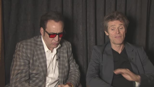 INTERVIEW Nicolas Cage Willem Dafoe on Paul Schrader's approach to the story what makes it so different at 'Dog Eat Dog' Interviewat Majestic...