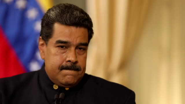 Nicolas Maduro saying 'it's a shame some European countries who were kicked by Donald Trump are now behind him'
