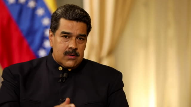 Nicolas Maduro saying people have to stop the US intervention in Venezuela and let it 'resolve its own problems'