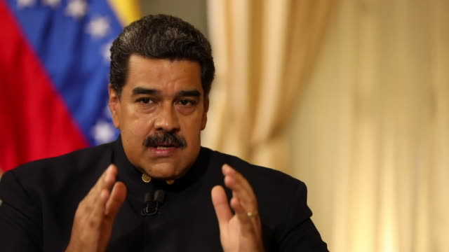 Nicolas Maduro saying 'the good people of the world' must prevent Donald Trump from 'starting a war in Latin America'